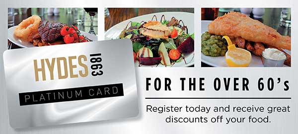 Over 60s Food Discount Card at the Samuel Brooks in Sale, Ashton on Mersey